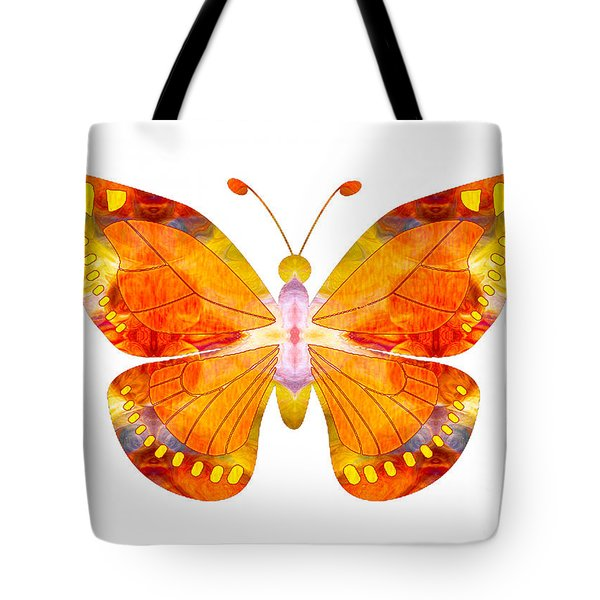 Wisdom And Flight Abstract Butterfly Art By Omaste Witkowski Tote Bag