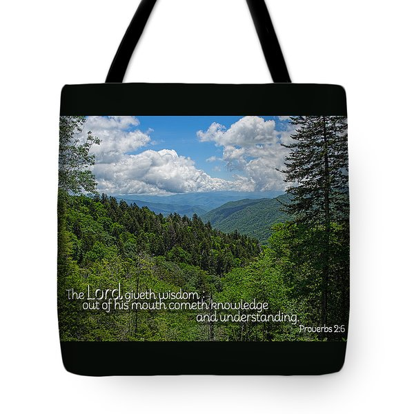 Wisdom From The Lord Tote Bag