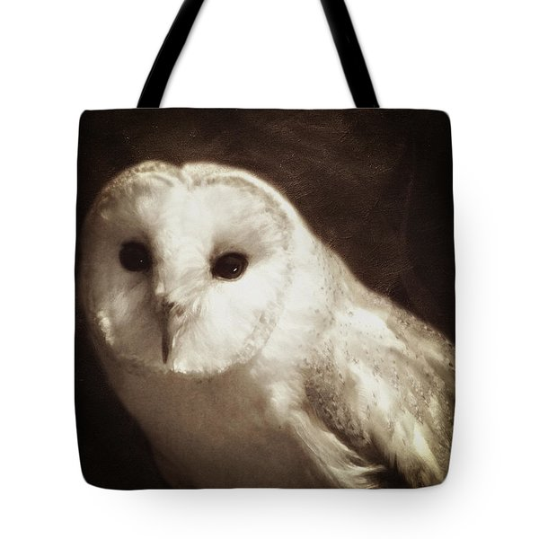 Tote Bag featuring the photograph Wisdom Of An Owl by Isabella Howard