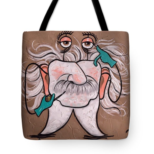 Tote Bag featuring the painting Wisdom Tooth 2 by Anthony Falbo