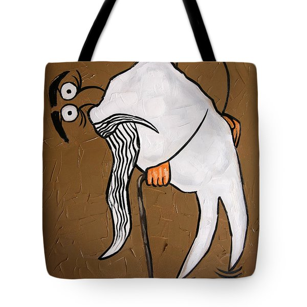 Tote Bag featuring the painting Wisdom Tooth by Anthony Falbo