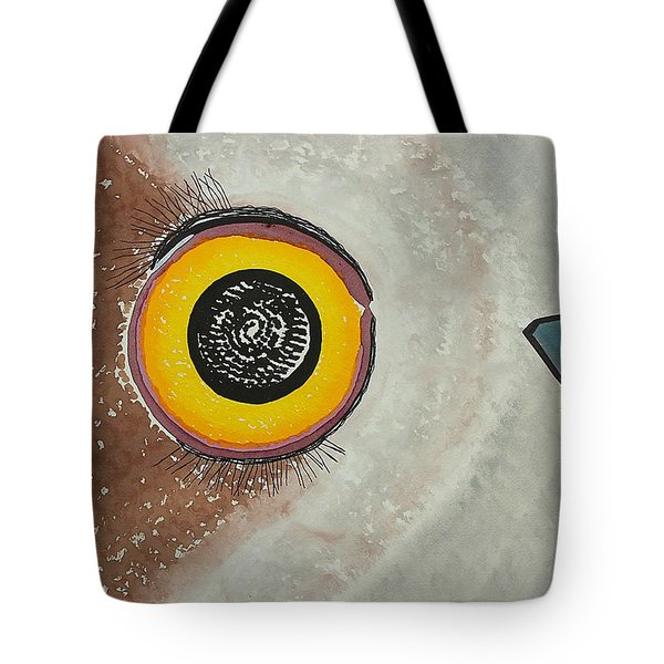 Wise Owl Original Painting Tote Bag