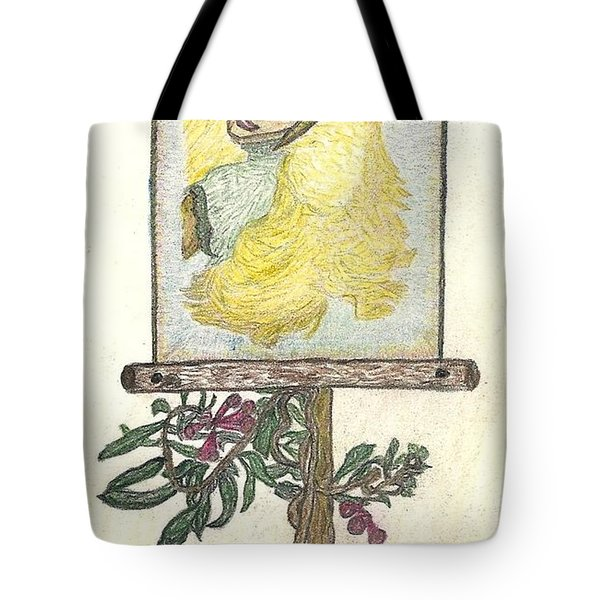 Tote Bag featuring the drawing Wish And Tell by Kim Pate