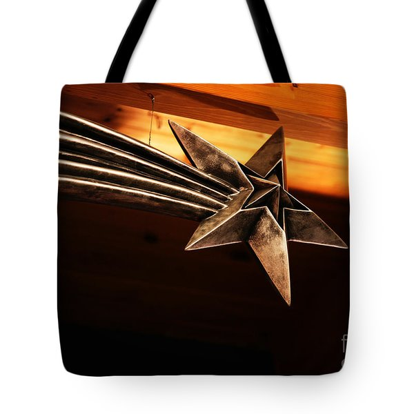 Wish Upon A Shooting Star Tote Bag by Linda Shafer