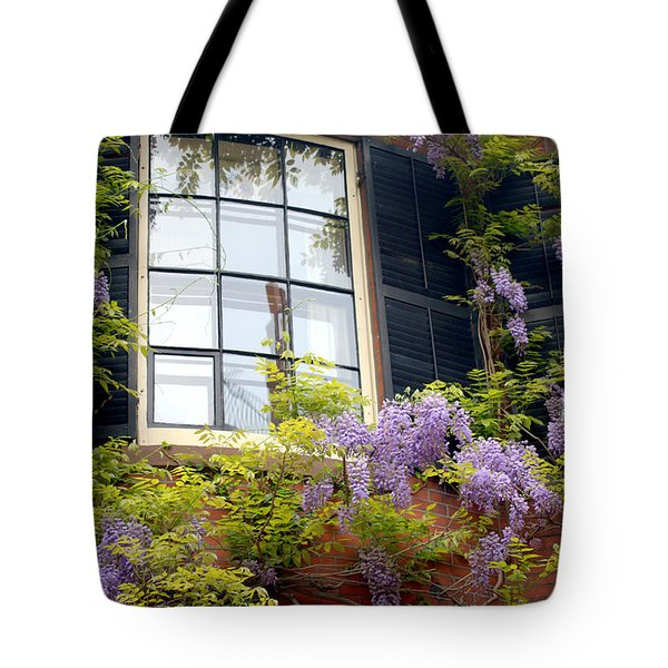 Wisteria And Window  Tote Bag