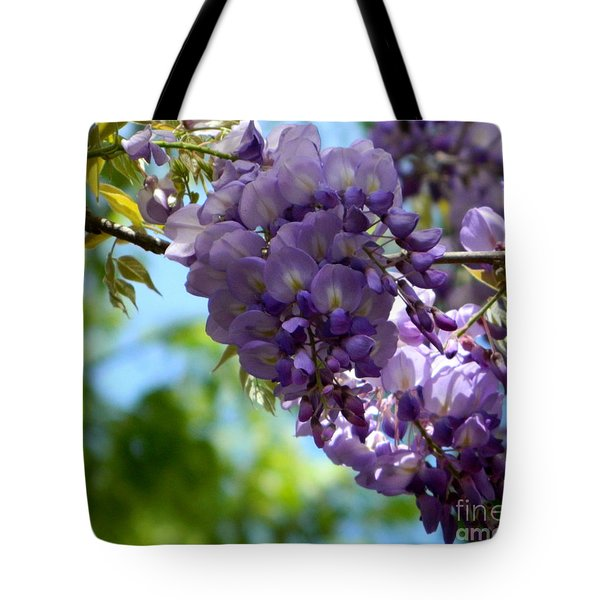Wisteria Tote Bag by Andrea Anderegg
