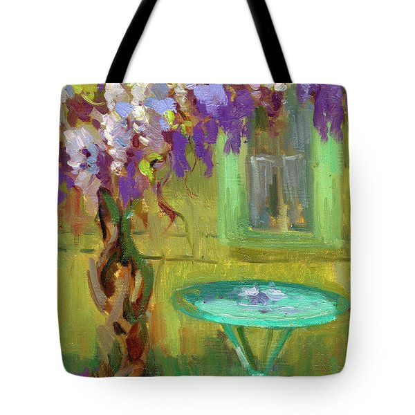 Wisteria At Hotel Baudy Tote Bag