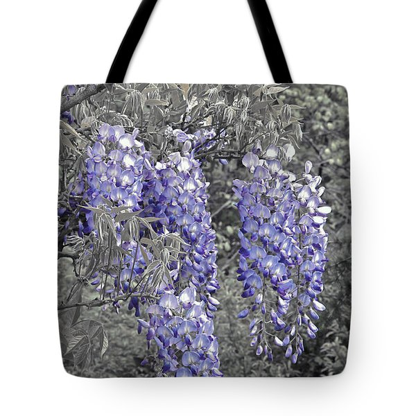 Wisteria Blossom Cluster Abstract -- Version 2 Tote Bag by Byron Varvarigos