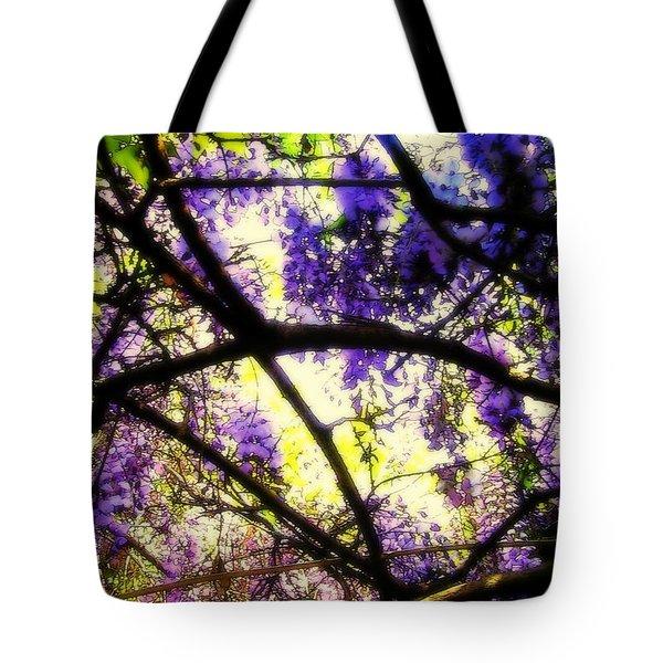 Wisteria Branches Tote Bag by Jodie Marie Anne Richardson Traugott          aka jm-ART