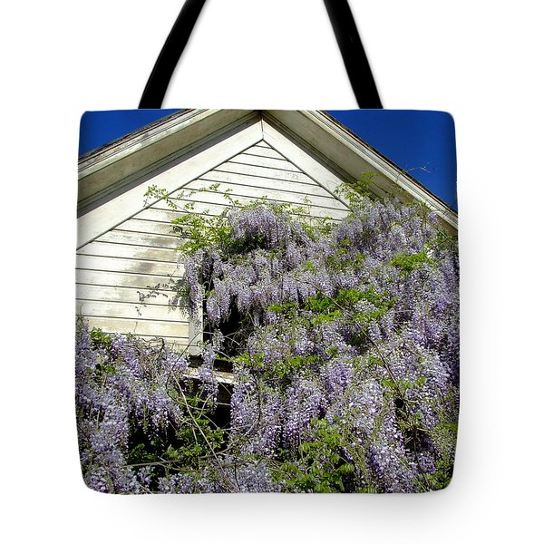 Wisteria Cascading Tote Bag by Everett Bowers