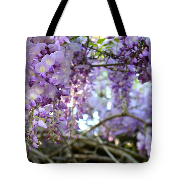 Wisteria Dream Tote Bag by Cathy Dee Janes