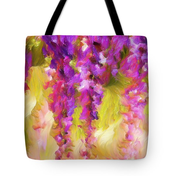 Tote Bag featuring the painting Wisteria Dreams by Isabella Howard