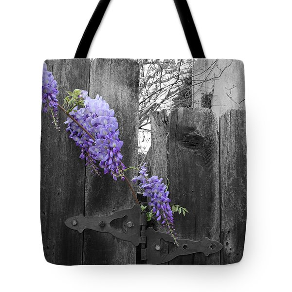 Tote Bag featuring the photograph Wisteria by Dylan Punke