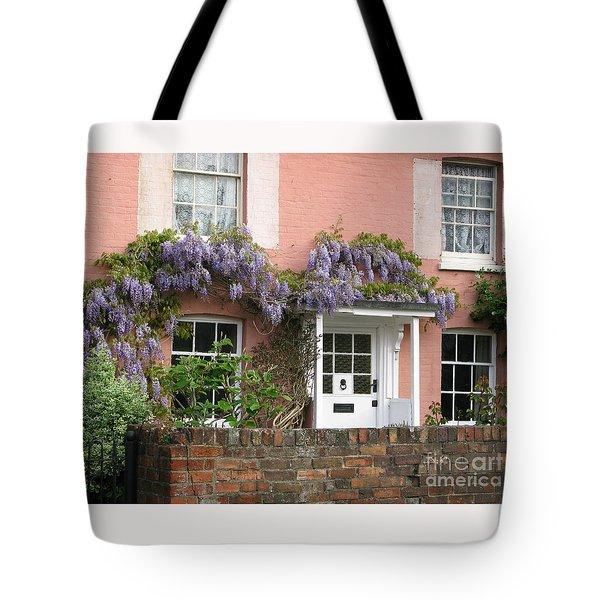 Wisteria House Tote Bag by Ann Horn
