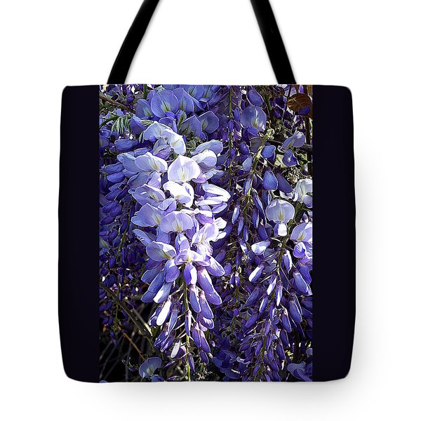 Tote Bag featuring the photograph Wisteria II by Jodie Marie Anne Richardson Traugott          aka jm-ART