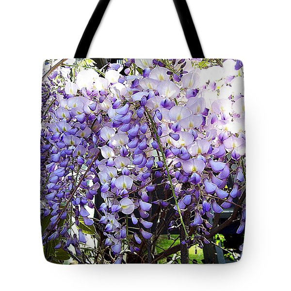 Tote Bag featuring the photograph Wisteria by Jodie Marie Anne Richardson Traugott          aka jm-ART