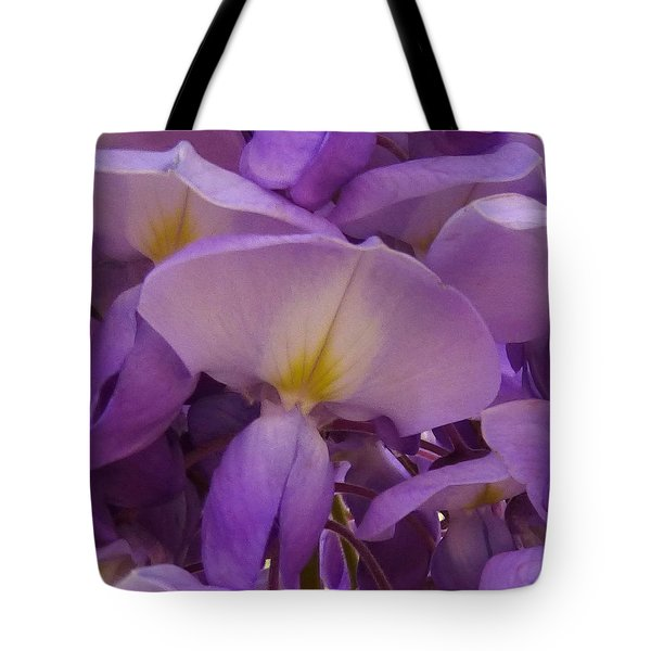 Wisteria Parasol Tote Bag by Claudia Goodell