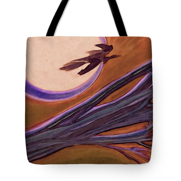 Witches' Branch Purple Tote Bag by First Star Art