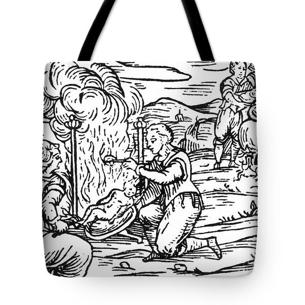 Witches Roasting And Boiling Infants Tote Bag