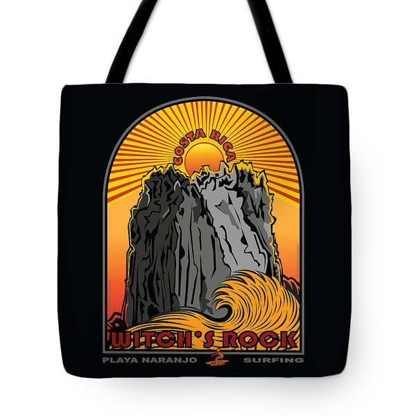Surfing Witch's Rock Costa Rica Playa Naranjo Tote Bag