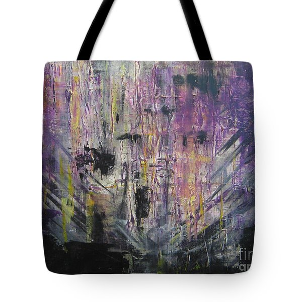 With A Chance Of Thunderstorms Tote Bag by Lucy Matta