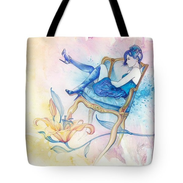 With Head In The Clouds Tote Bag