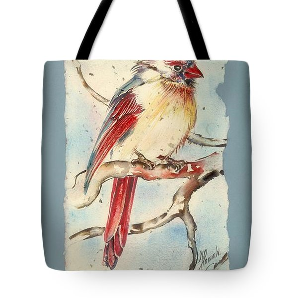 With Touches Of Red  Tote Bag