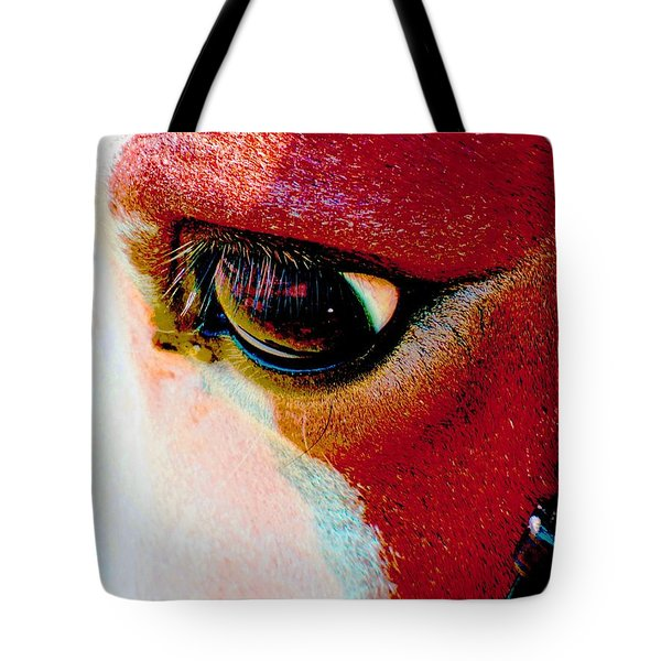 Within The Horse's Eyes Tote Bag