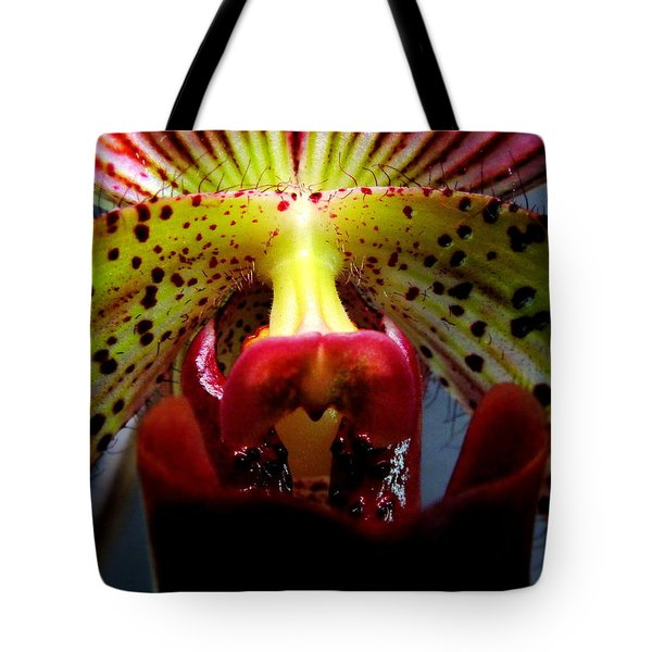 Within The Lady Slipper Tote Bag by Karen Wiles