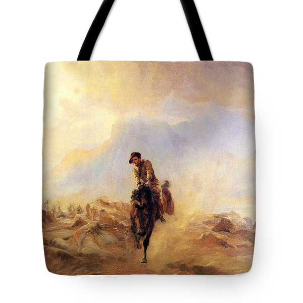 Within The Sounds Of The Guns Tote Bag by Elizabeth Thompson