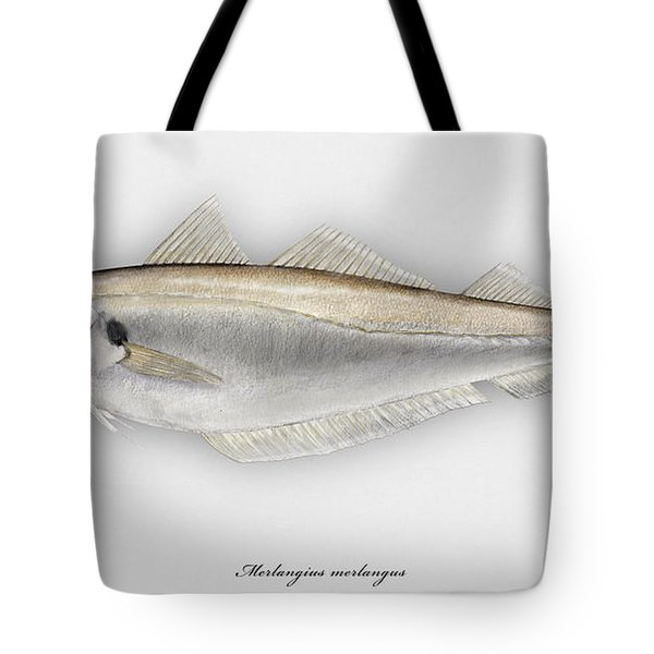 Withing Merlangius Merlangus - Merlan - Merlano - Hvitting - Cod Like Fish - Seafood Art Tote Bag