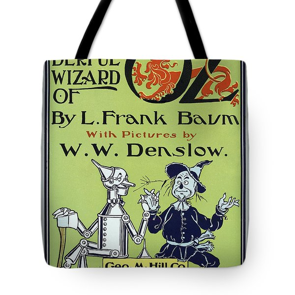 Wizard Of Oz Book Cover  1900 Tote Bag by Daniel Hagerman