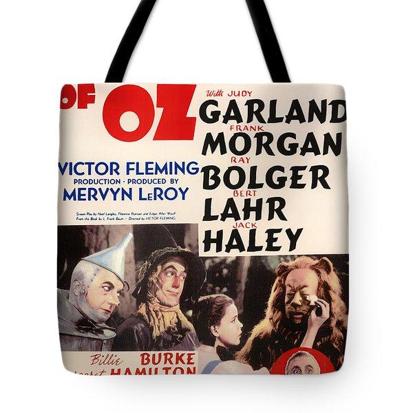 Wizard Of Oz Vintage Movie Poster Tote Bag