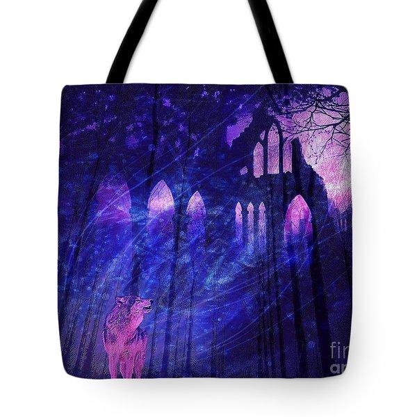 Wolf And Magic Tote Bag