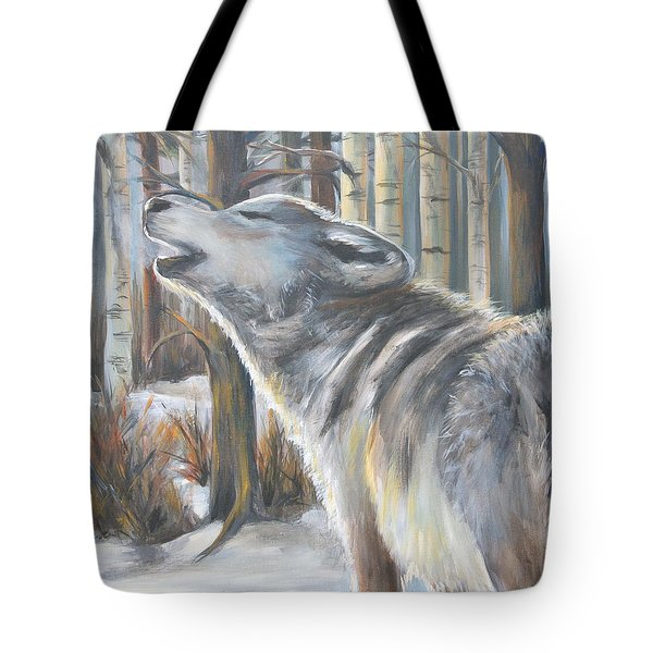 Wolf Tote Bag by Cher Devereaux