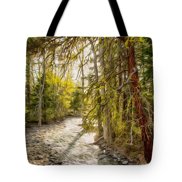 Wolf Creek Afternoon Light Tote Bag by Omaste Witkowski