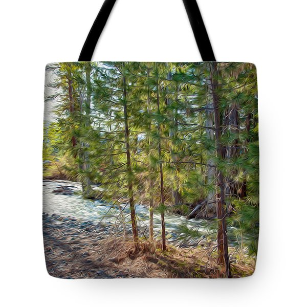 Wolf Creek Stretching Out Tote Bag by Omaste Witkowski