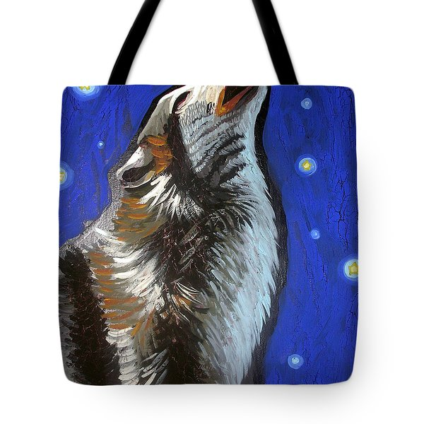 Wolf Howl Tote Bag by Genevieve Esson