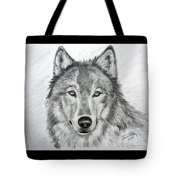 Wolf Tote Bag by Julie Brugh Riffey