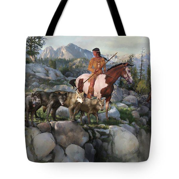 Wolf Maiden Tote Bag by Rob Corsetti