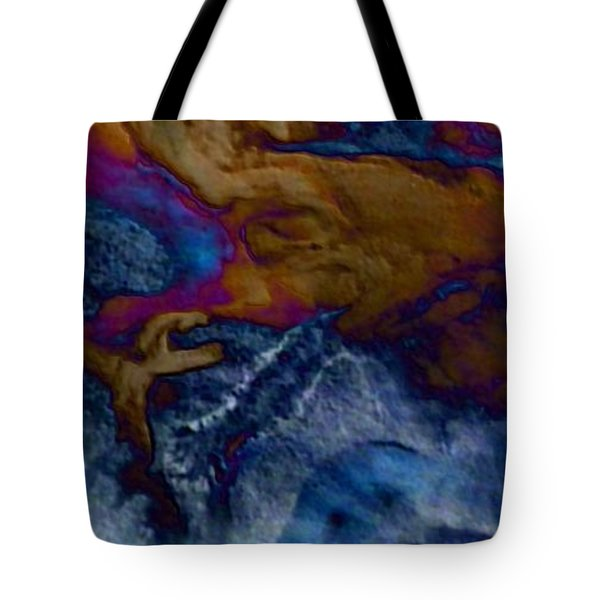 Tote Bag featuring the painting Wolf by Mike Breau