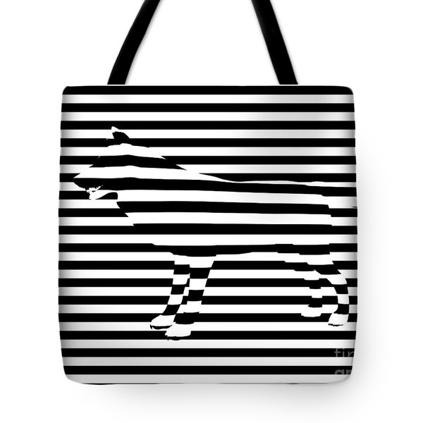 Wolf Optical Illusion Tote Bag