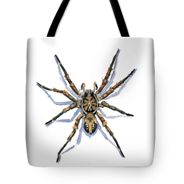 Wolf Spider Tote Bag by Katherine Miller