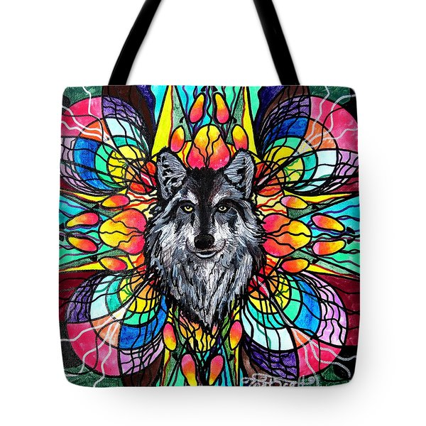 Wolf Tote Bag by Teal Eye  Print Store
