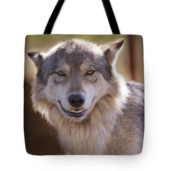 Wolf's Smile  Tote Bag