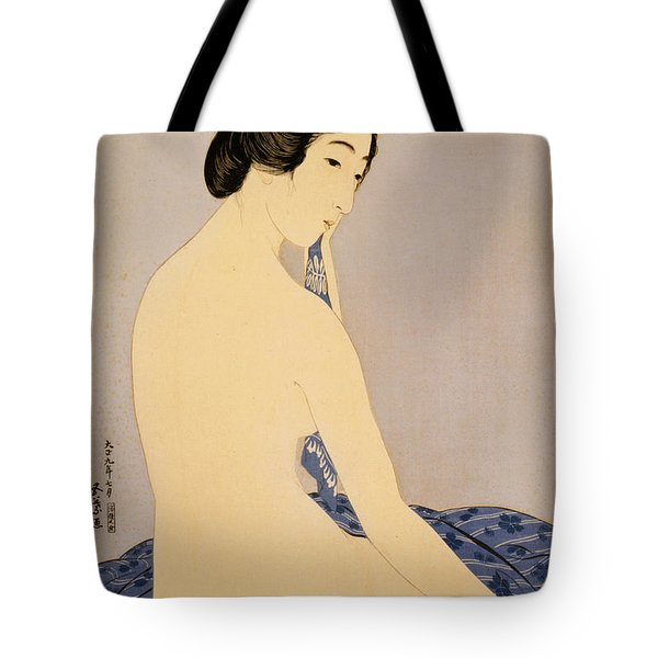 Woman After Bath Tote Bag by Georgia Fowler