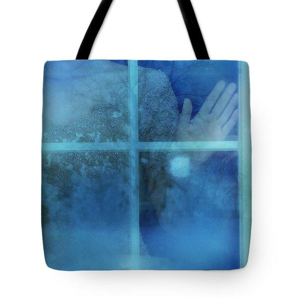 Woman At A Window Tote Bag by Jill Battaglia