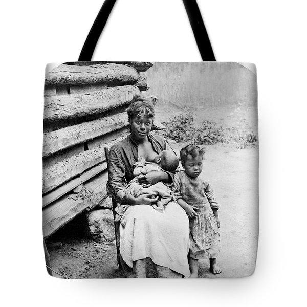Woman Breast Feeding Her Baby Tote Bag