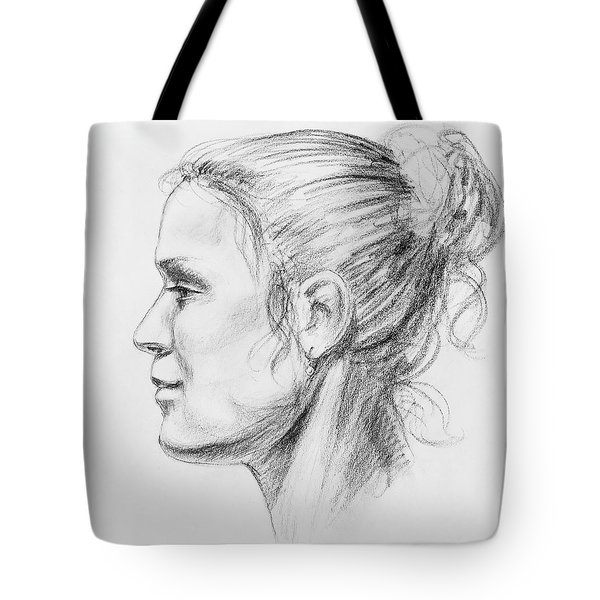Woman Head Study Tote Bag