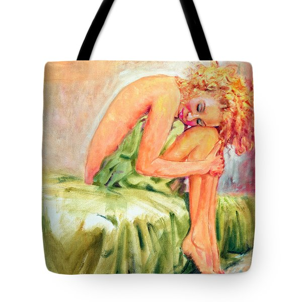Woman In Blissful Ecstasy Tote Bag
